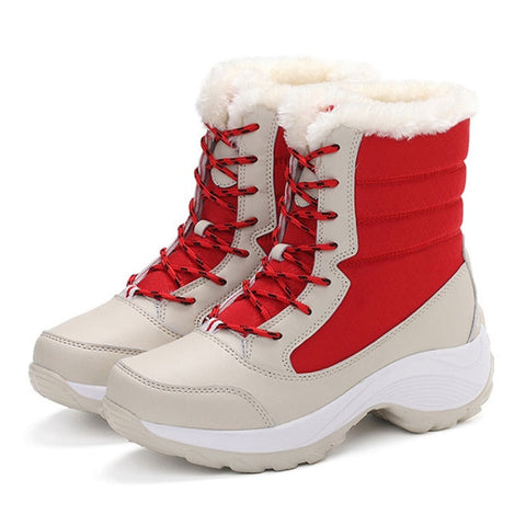 Women Boots Waterproof Winter Shoes Snow Boots Platform Keep Warm Ankle Winter Boots With Thick
