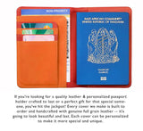 Leather Passport Holder Cover Case