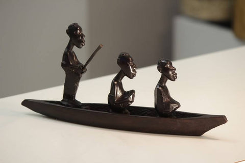 """ Fisherman Boat"" wooden hand carved"
