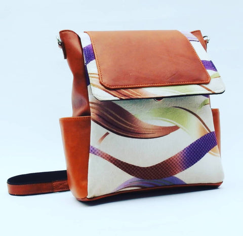 Leather & Fabric bag