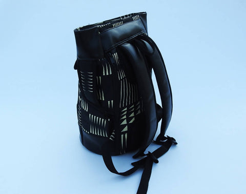 Fabric & Leather Backpack