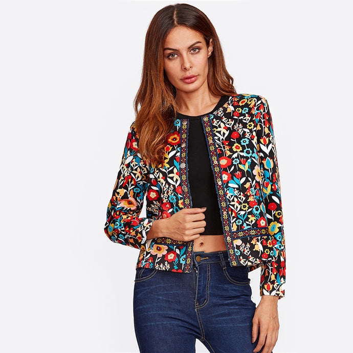 SHEIN - Jacket multicolore hyper tendance