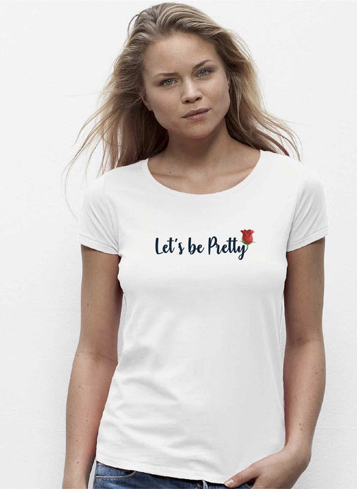 T-shirt à imprimé Let's be pretty