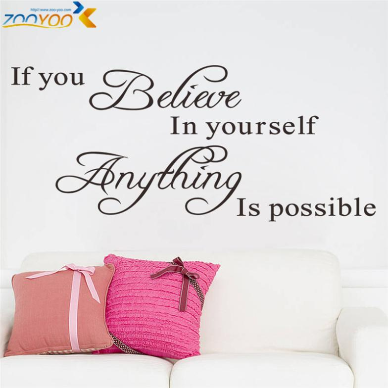 Believe In Yourself Wall Sticker - whimsyandever