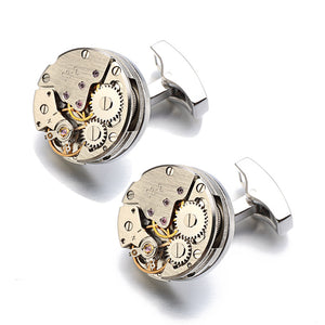 Steampunk Watch Gear Cufflinks - whimsyandever