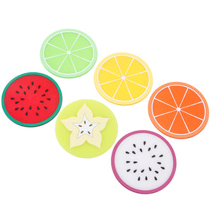 Sliced Fruit Silicone Coasters - whimsyandever