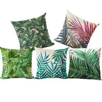 Tropical Plants Cushion Cover - whimsyandever