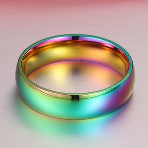 Spectrum Titanium Stainless Steel Ring - whimsyandever