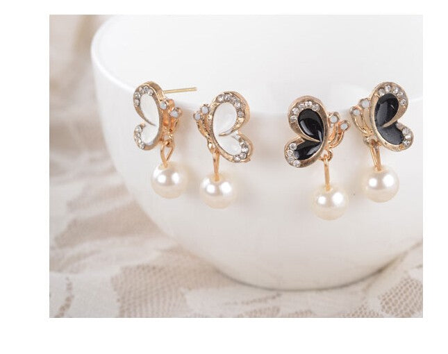 Butterfly Pearl Treasure Earrings - whimsyandever