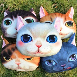 Animal Face Neck Pillow - whimsyandever