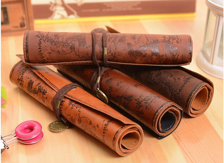 Vintage Treasure Map Pencil Case - whimsyandever