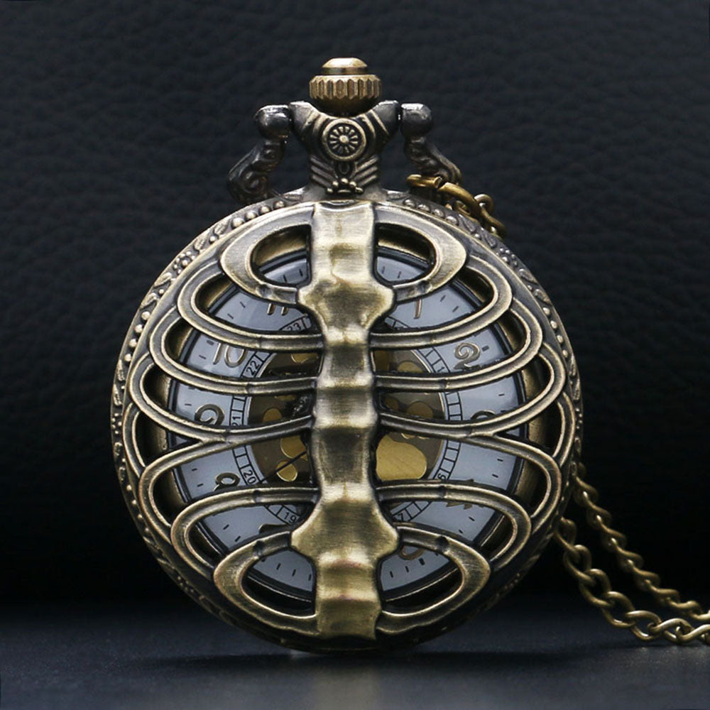 Skeleton Ribcage Pocket Watch - whimsyandever