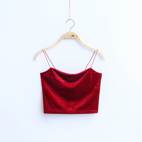 A Different World Velvet Crop Top - whimsyandever