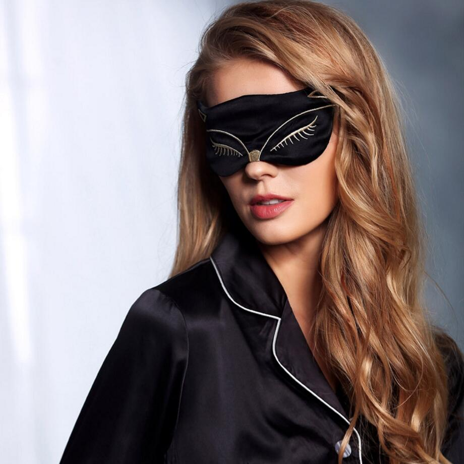 KittyKat 100% Silk Sleeping Eye Mask - whimsyandever