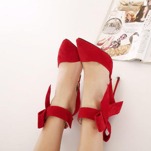 Sash and Bow Stilettos - whimsyandever