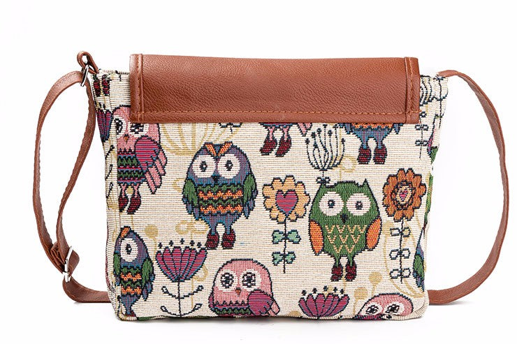 Watching Owl Messenger Bag - whimsyandever