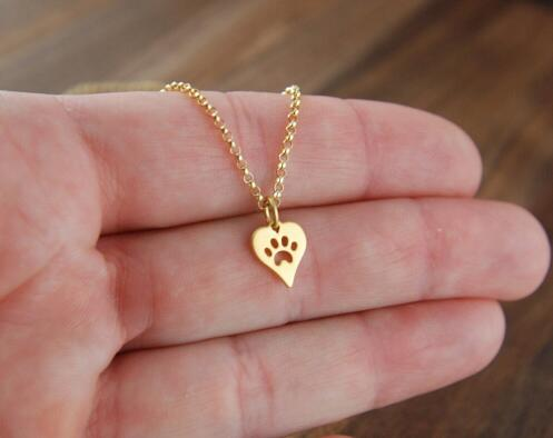 Paw Prints on My Heart Necklace - whimsyandever