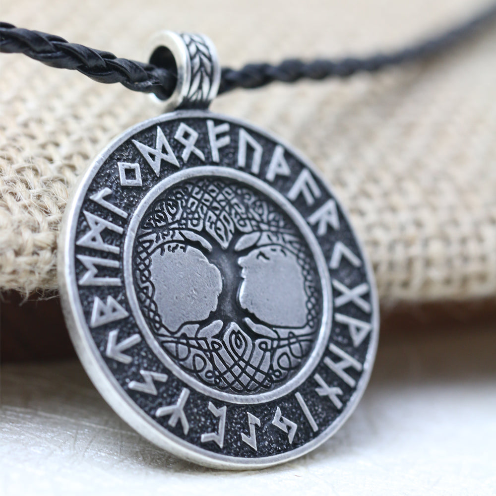Vikings Runes Tree of Life Talisman - whimsyandever