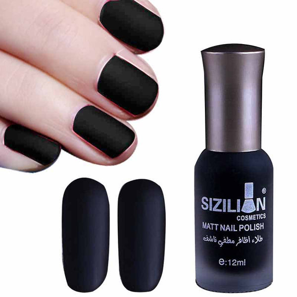 Bewitching Black Matte Fast-dry Nail Lacquer – whimsyandever