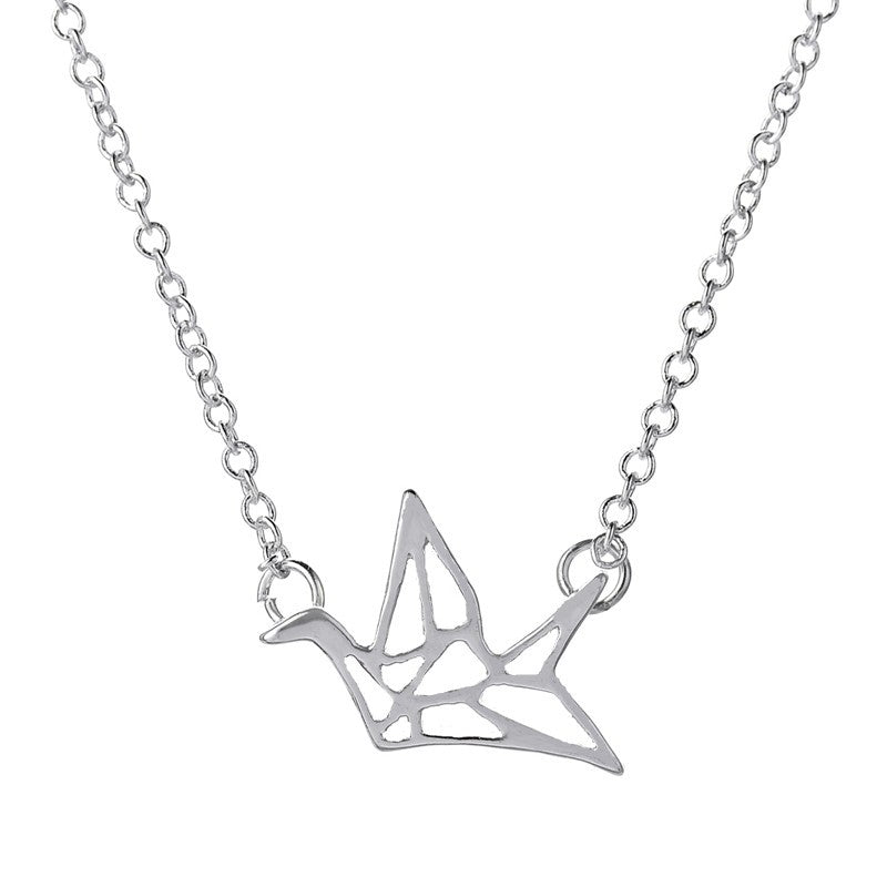 Origami Friendship Crane Necklace - whimsyandever