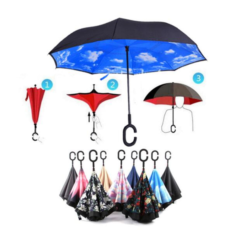 Mary Poppins Windproof Reverse Umbrella - whimsyandever