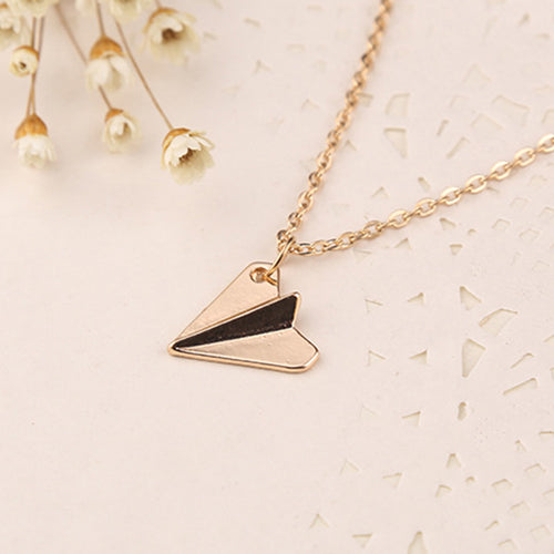 Harry and Taylor Paper Airplanes Necklace - whimsyandever