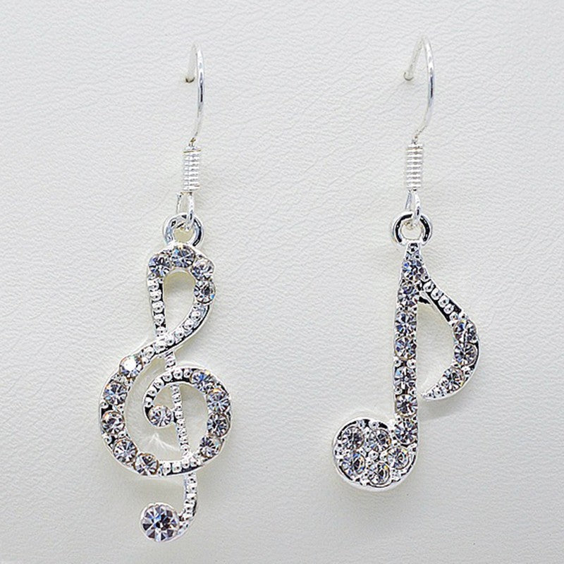 Musical Notes Mismatched Earrings - whimsyandever