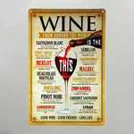 Elixir Wine Sign Poster - whimsyandever