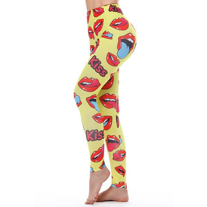 Kiss Loudmouth Leggings - whimsyandever