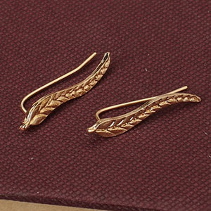 Enchanted Feather Leaf Studs - whimsyandever