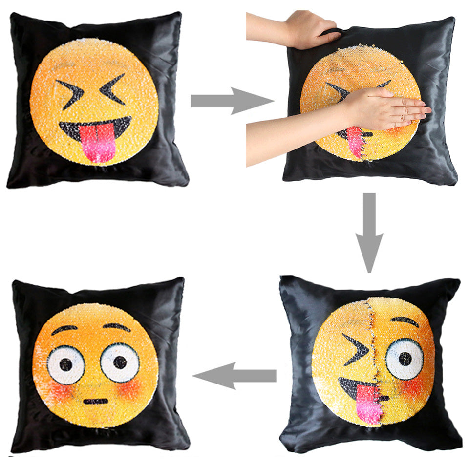 Reversible Emoji Cushion Cover - whimsyandever