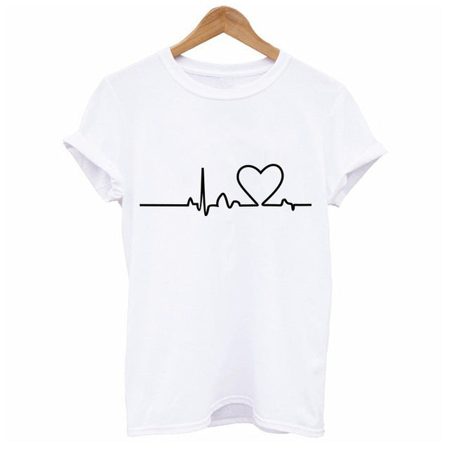 Heartbeat Love T-Shirt - whimsyandever