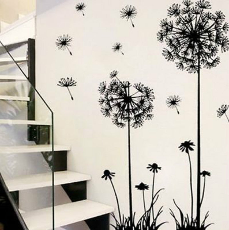 Dandelion in the Wind Wall Sticker - whimsyandever