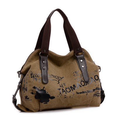 Vintage Graffiti Canvas Bag - whimsyandever