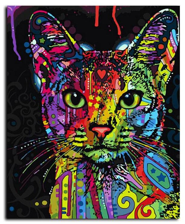 RocknRoll Kitty: Van-Go Paint-By-Number Kit - whimsyandever