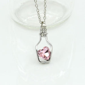 Don't Break My Crystal Heart Pendant - whimsyandever