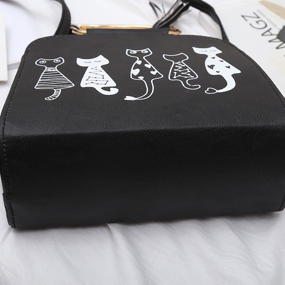 Purrrfect Cat Messenger Bag - whimsyandever