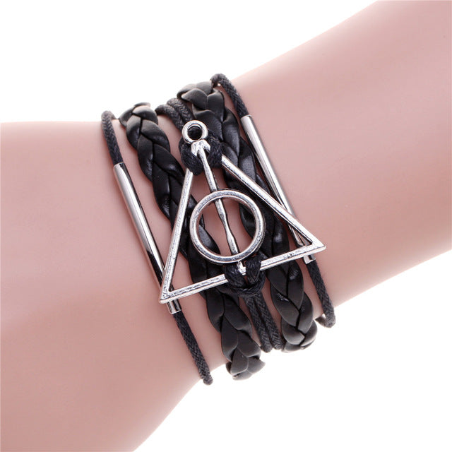 Deathly Hallows Bracelet - whimsyandever