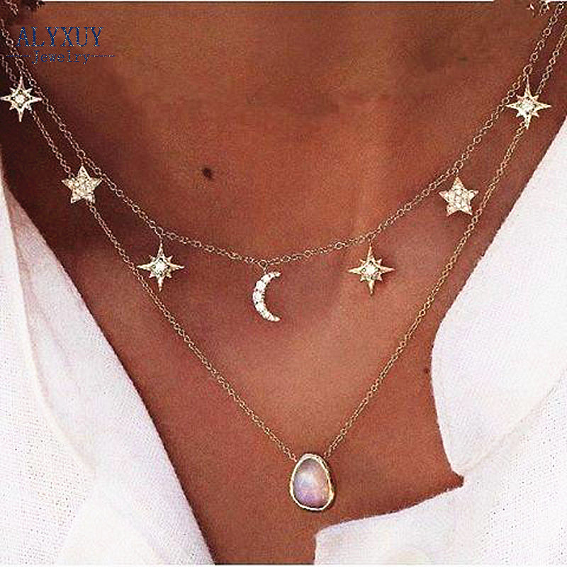 To The Moon and Stars Necklace - whimsyandever