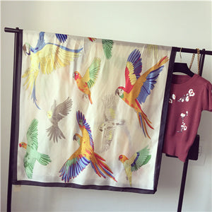 Giraffe and Friends Silk Scarves - whimsyandever