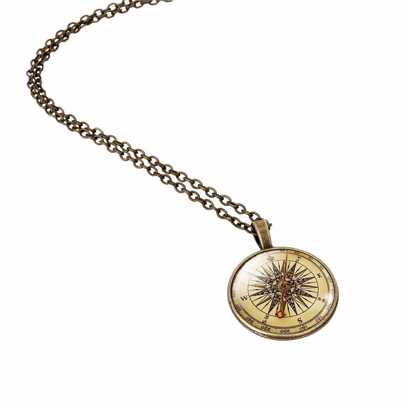 Follow the Stars Compass Necklace - whimsyandever