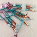 Mermaid Tail Makeup Brushes - whimsyandever