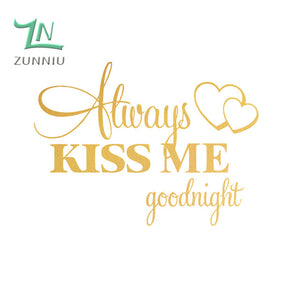 Always Kiss Me Goodnight Wall Decor - whimsyandever
