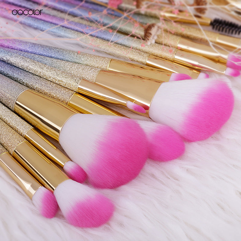 Unicorn Horn Makeup Brushes - whimsyandever