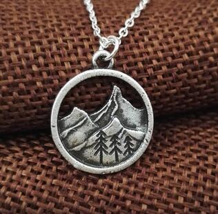 Find Your Road Mountain Necklace - whimsyandever