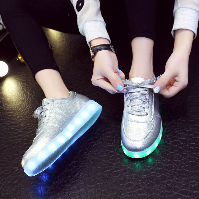 Luminous Precious Metal Sneakers - whimsyandever