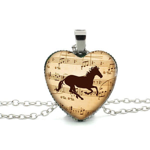 Musical Running Horse Necklace - whimsyandever