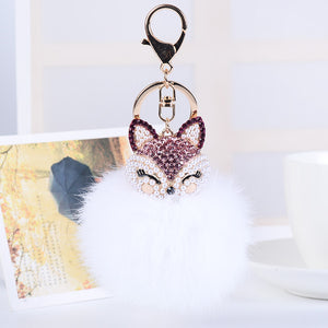 Foxy Furball Keychain - whimsyandever