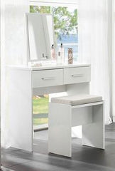 Topline Dressing Table with Mirror & Stool  dressing table- Blue Ocean Interiors