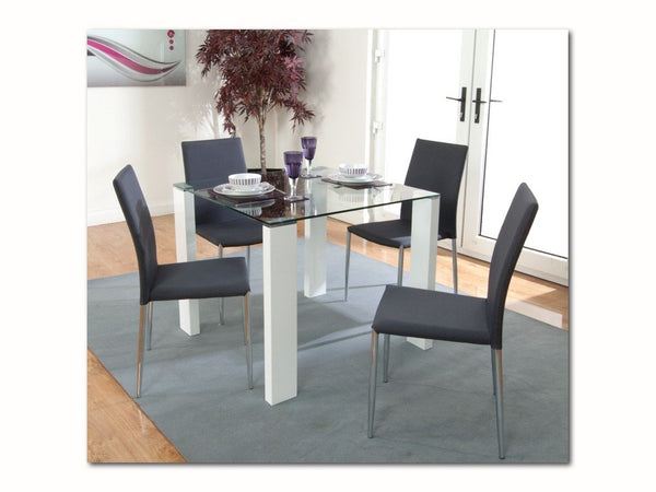 AnnaghmoreAtlantis Clarus Dining Table with 4 Grey ChairsBlue Ocean Interiors